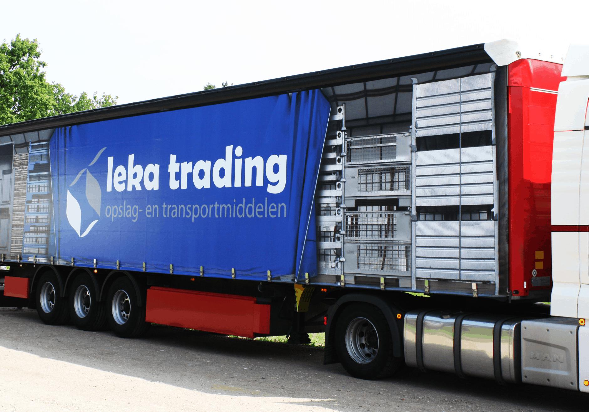Indruk maken met vrachtwagen belettering