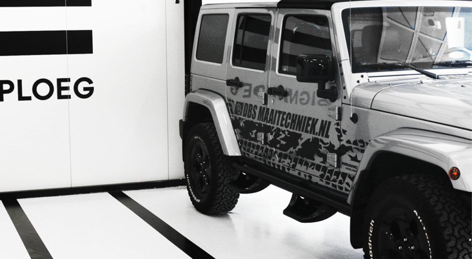 Autobelettering Jeep Wrangler Unlimited
